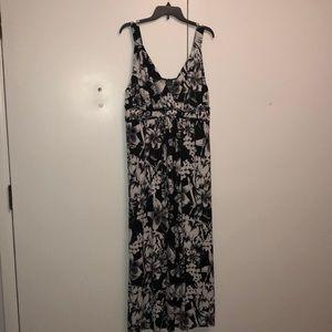 Covington Black and White Floral Maxi Dress